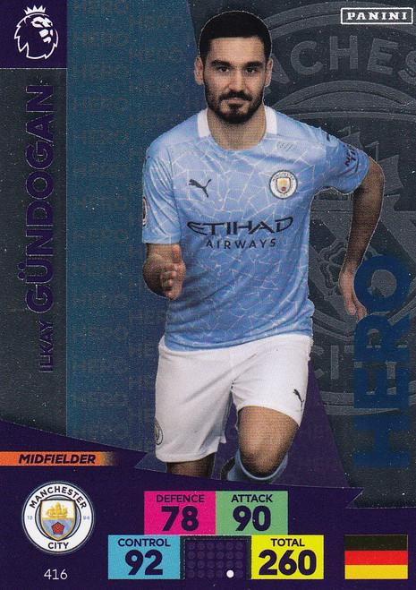 #416 Ilkay Gundogan (Manchester City) Adrenalyn XL Premier League 2020/21 HERO