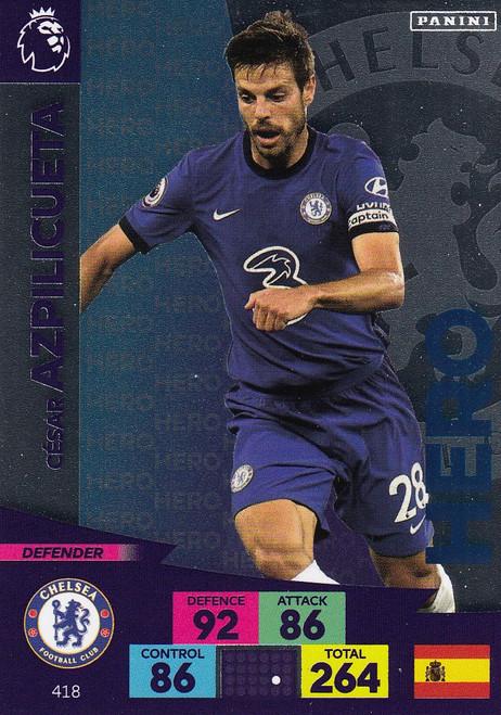 #418 Cesar Azpilicueta (Chelsea) Adrenalyn XL Premier League 2020/21 HERO
