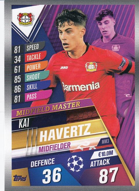 #MM3 Kai Havertz (Bayer 04 Leverkusen) Match Attax 101 2019/20 MIDFIELD MASTER