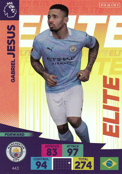 #443 Gabriel Jesus (Manchester City) Adrenalyn XL Premier League 2020/21 ELITE