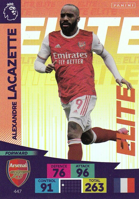 #447 Alexandre Lacazette (Arsenal) Adrenalyn XL Premier League 2020/21 ELITE