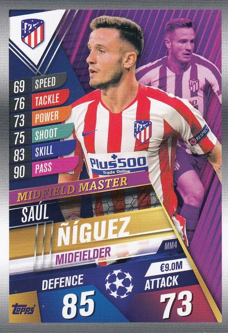 #MM4 Saul Niguez (Club Atletico De Madrid) Match Attax 101 2019/20 MIDFIELD MASTER