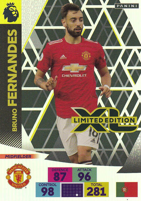 MANCHESTER UNITED - Bruno Fernandes Adrenalyn XL Premier League 2020/21 LIMITED EDITION