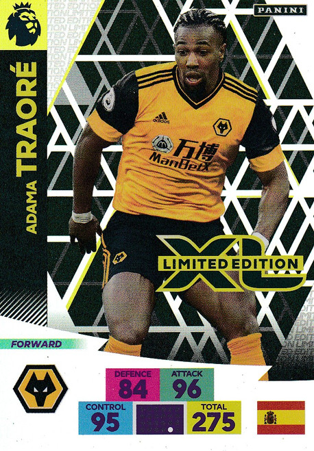 WOLVERHAMPTON WANDERERS - Adama Traore Adrenalyn XL Premier League 2020/21 LIMITED EDITION