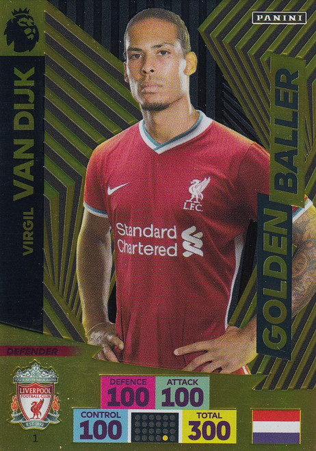 #1 Virgil Van Dijk (Liverpool) Adrenalyn XL Premier League 2020/21 GOLDEN BALLER