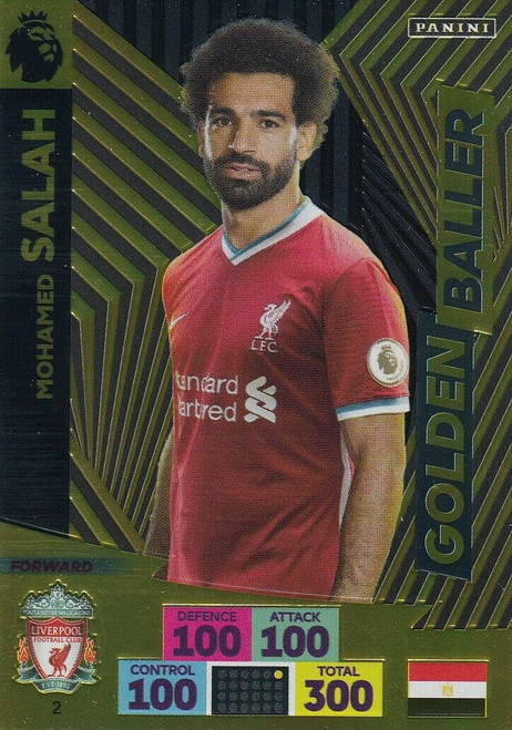 #2 Mohamed Salah (Liverpool) Adrenalyn XL Premier League 2020/21 GOLDEN BALLER