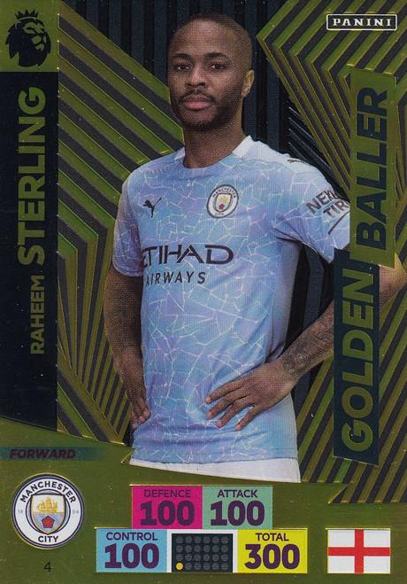 #4 Raheem Sterling (Manchester City) Adrenalyn XL Premier League 2020/21 GOLDEN BALLER