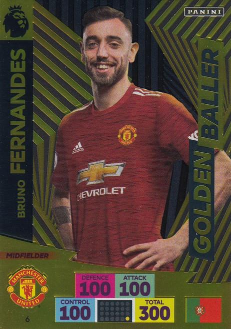 #6 Bruno Fernandes (Manchester United) Adrenalyn XL Premier League 2020/21 GOLDEN BALLER