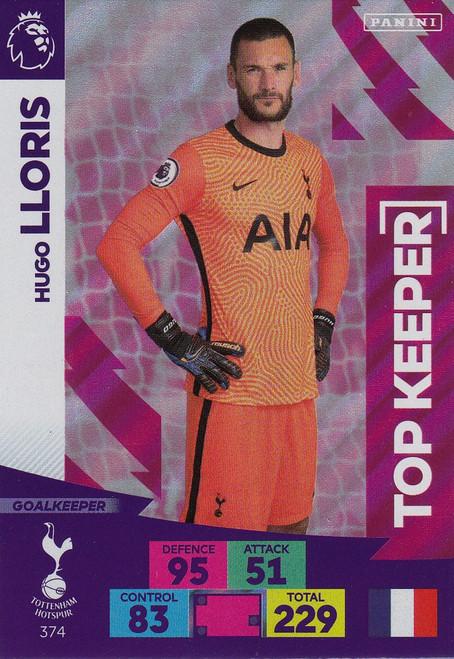 #374 Hugo Lloris (Tottenham Hotspur) Adrenalyn XL Premier League 2020/21 TOP KEEPER
