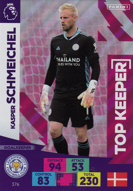 #376 Kasper Schmeichel (Leicester City) Adrenalyn XL Premier League 2020/21 TOP KEEPER