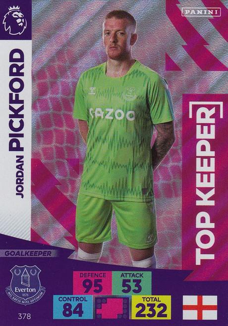#378 Jordan Pickford (Everton) Adrenalyn XL Premier League 2020/21 TOP KEEPER
