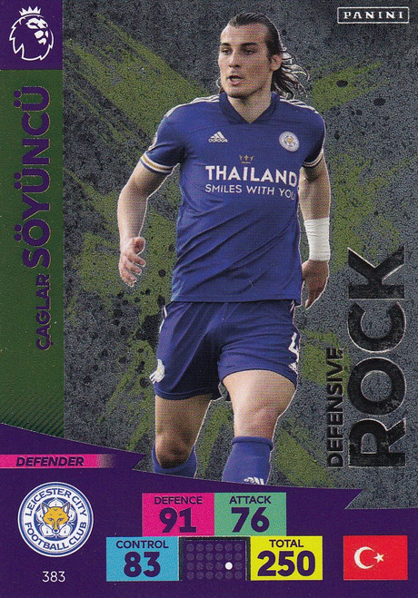 #383 Caglar Soyuncu (Leicester City) Adrenalyn XL Premier League 2020/21 DEFENSIVE ROCK