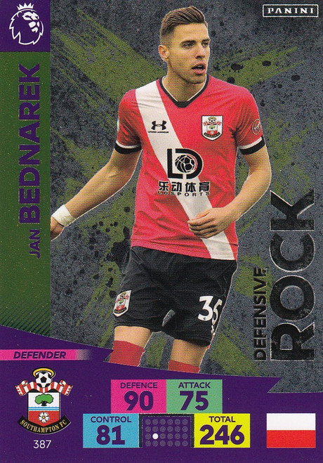 #387 Jan Bednarek (Southampton) Adrenalyn XL Premier League 2020/21 DEFENSIVE ROCK