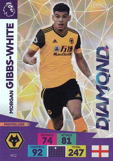 #402 Morgan Gibbs-White (Wolverhampton Wanderers) Adrenalyn XL Premier League 2020/21 DIAMOND