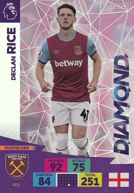 #405 Declan Rice (West Ham United) Adrenalyn XL Premier League 2020/21 DIAMOND
