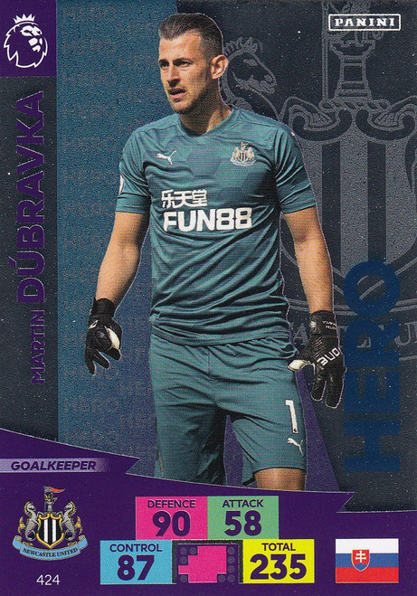 #424 Martin Dubravka (Newcastle United) Adrenalyn XL Premier League 2020/21 HERO