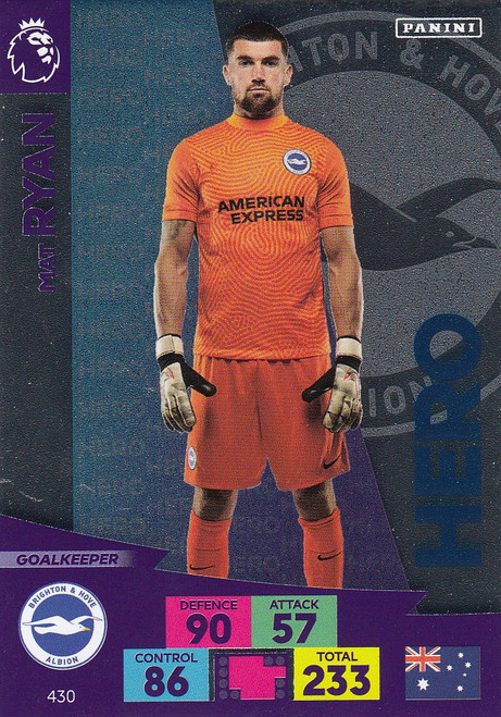 #430 Mat Ryan (Brighton & Hove Albion) Adrenalyn XL Premier League 2020/21 HERO