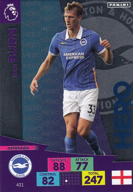 #431 Dan Burn (Brighton & Hove Albion) Adrenalyn XL Premier League 2020/21 HERO