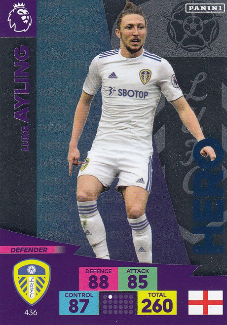 #436 Luke Ayling (Leeds United) Adrenalyn XL Premier League 2020/21 HERO