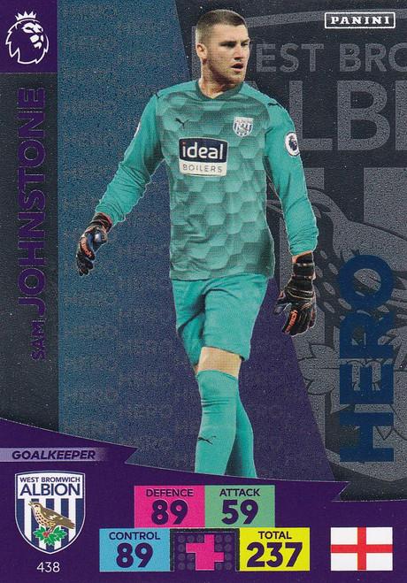 #438 Sam Johnstone (West Bromwich Albion) Adrenalyn XL Premier League 2020/21 HERO