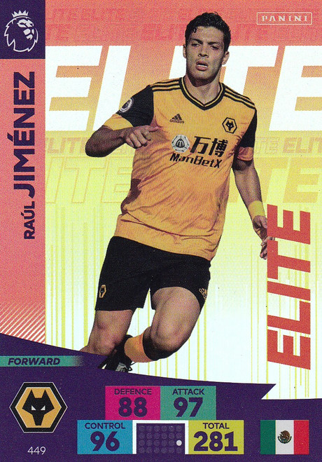 #449 Raul Jimenez (Wolverhampton Wanderers) Adrenalyn XL Premier League 2020/21 ELITE