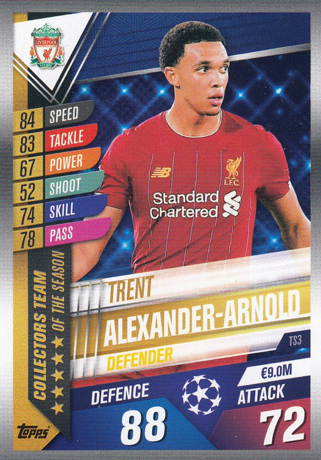 #TS3 Trent Alexander-Arnold (Liverpool FC) Match Attax 101 2019/20 TEAM OF THE SEASON