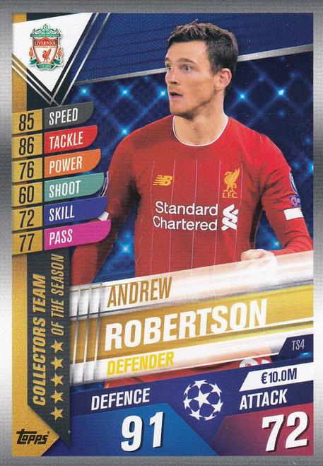 #TS4 Andrew Robertson (Liverpool FC) Match Attax 101 2019/20 TEAM OF THE SEASON