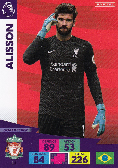 #11 Alisson (Liverpool) Adrenalyn XL Premier League 2020/21