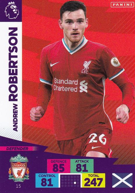 #15 Andrew Robertson (Liverpool) Adrenalyn XL Premier League 2020/21