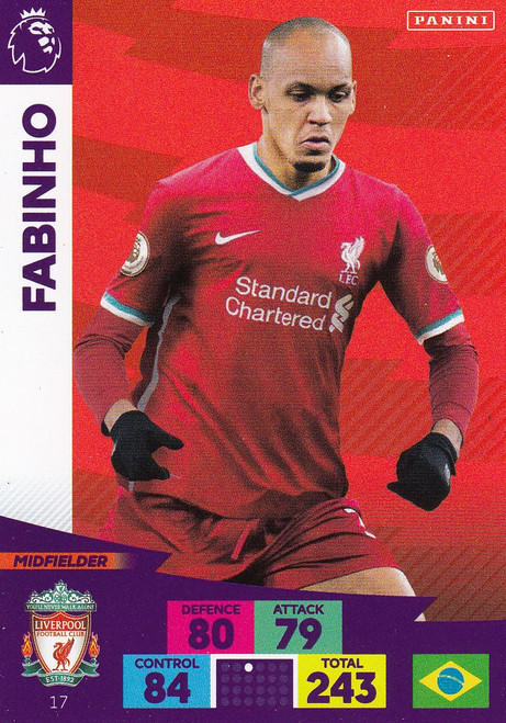 #17 Fabinho (Liverpool) Adrenalyn XL Premier League 2020/21