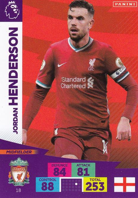 #18 Jordan Henderson (Liverpool) Adrenalyn XL Premier League 2020/21