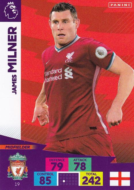 #19 James Milner (Liverpool) Adrenalyn XL Premier League 2020/21