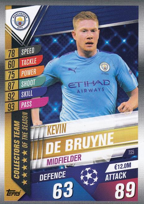 #TS5 Kevin De Bruyne (Manchester City) Match Attax 101 2019/20 TEAM OF THE SEASON