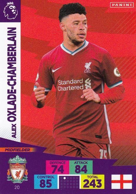 #20 Alex Oxlade-Chamberlain (Liverpool) Adrenalyn XL Premier League 2020/21