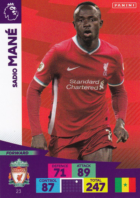 #23 Sadio Mane (Liverpool) Adrenalyn XL Premier League 2020/21