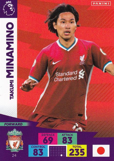 #24 Takumi Minamino (Liverpool) Adrenalyn XL Premier League 2020/21