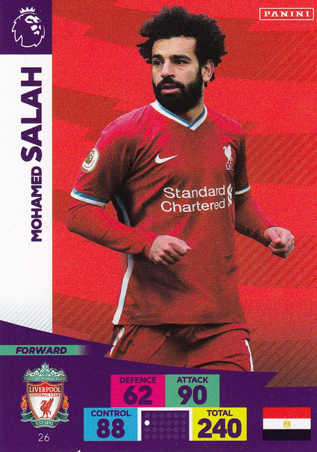 #26 Mohamed Salah (Liverpool) Adrenalyn XL Premier League 2020/21