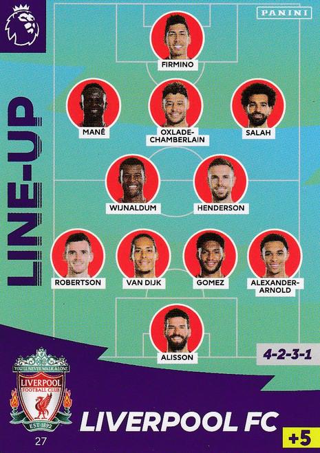 #27 Line Up (Liverpool) Adrenalyn XL Premier League 2020/21