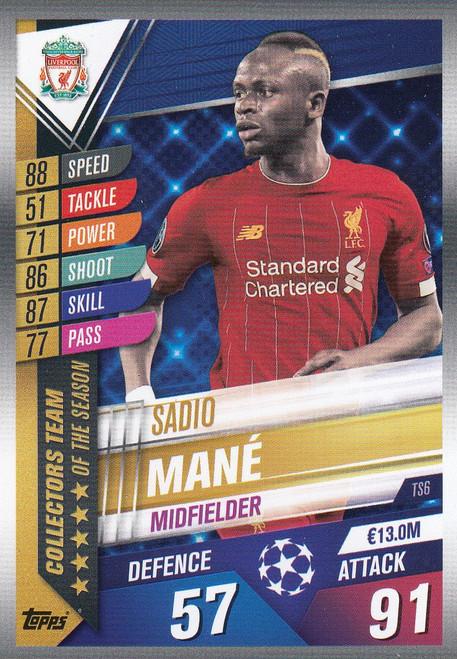 #TS6 Sadio Mane (Liverpool FC) Match Attax 101 2019/20 TEAM OF THE SEASON