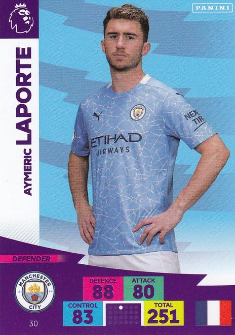 #30 Aymeric Laporte (Manchester City) Adrenalyn XL Premier League 2020/21