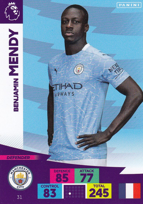 #31 Benjamin Mendy (Manchester City) Adrenalyn XL Premier League 2020/21