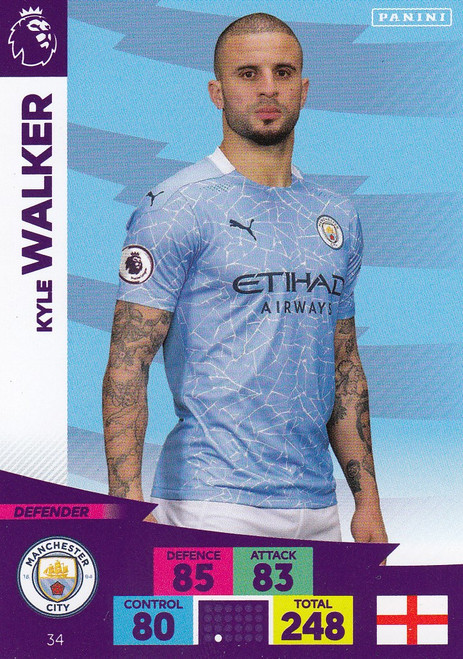 #34 Kyle Walker (Manchester City) Adrenalyn XL Premier League 2020/21