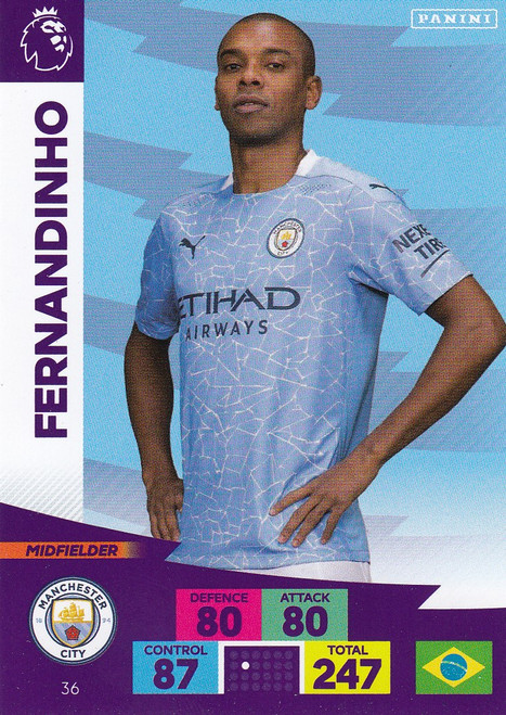 #36 Fernandinho (Manchester City) Adrenalyn XL Premier League 2020/21