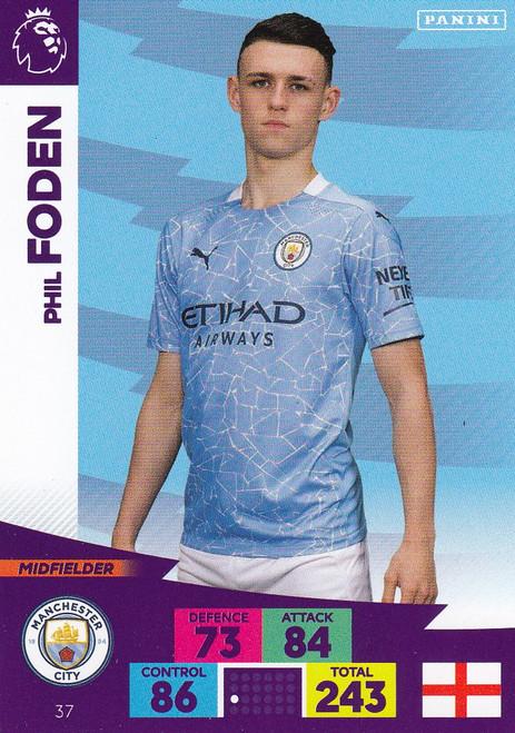 #37 Phil Foden (Manchester City) Adrenalyn XL Premier League 2020/21