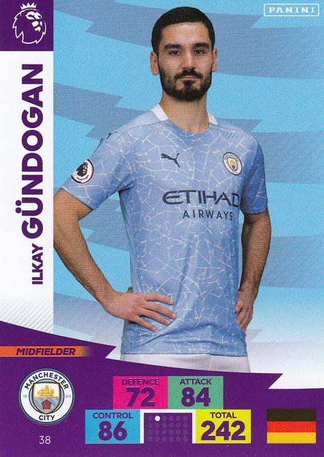 #38 Ilkay Gundogan (Manchester City) Adrenalyn XL Premier League 2020/21