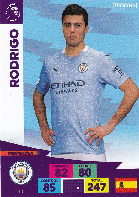 #40 Rodrigo (Manchester City) Adrenalyn XL Premier League 2020/21