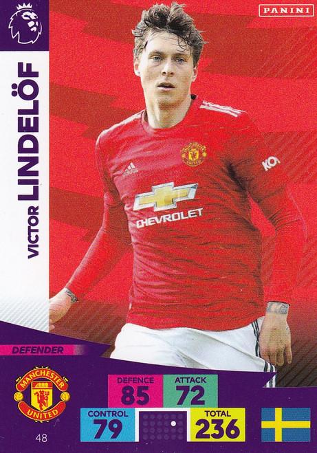 #48 Victor Lindelof (Manchester United) Adrenalyn XL Premier League 2020/21