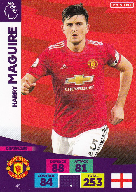 #49 Harry Maguire (Manchester United) Adrenalyn XL Premier League 2020/21