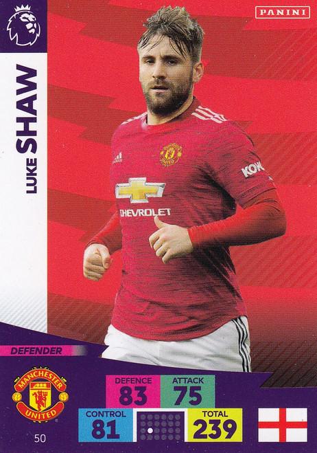 #50 Luke Shaw (Manchester United) Adrenalyn XL Premier League 2020/21