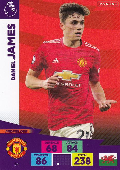 #54 Daniel James (Manchester United) Adrenalyn XL Premier League 2020/21